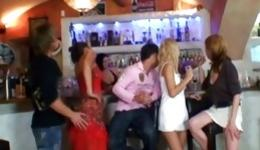 Horny people are having fun banging each other hard core on party